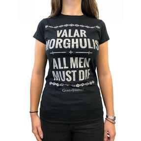 Černé dámské tričkoGame of Thrones - Valar Morghulis