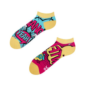 Kotníkové veselé ponožky Komiks