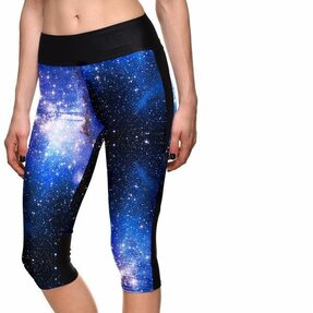 Dámské sportovní capri legíny Modrá galaxie