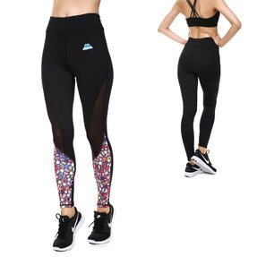 Damen Sport Leggings Elastisch Pebbles