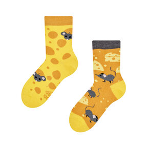 Lustige Kinder Socken Käse