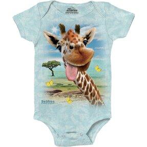Giraffe Selfie Babygrow