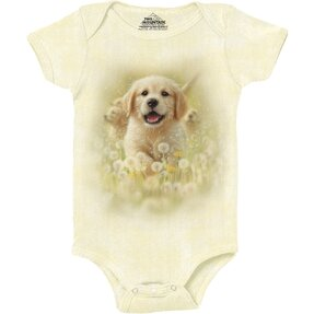 Baby Strampler Golden Retriever Welpe
