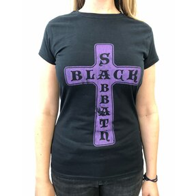 Damen T-Shirt Vintage Black Sabbath
