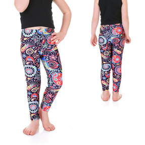 Mädchen Leggings Farbige Kreise