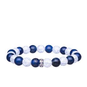 Náramok Lapis lazuli, Praskaný krištáľ, Zirkóny - kamene priateľstva a čistoty