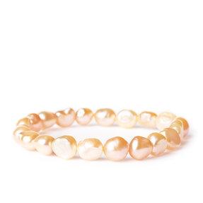 Náramok Riečne perly marhuľové - kameň krásy