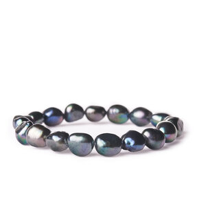 Náramek Říční perly tmavé - kámen krásy