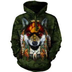 Mikina s kapucňou Vlk indián
