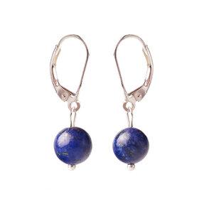 Naušnice Lapis lazuli kuličky - kámen přátelství