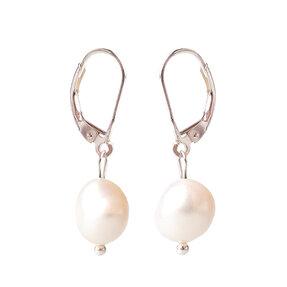 Náušnice Riečne perly biele - kameň krásy