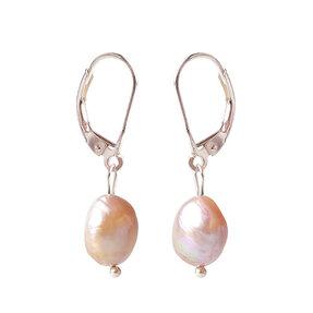 Náušnice Riečne perly ružové - kameň krásy