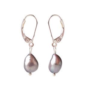 Náušnice Riečne perly tmavé - kameň krásy