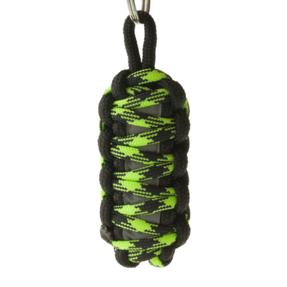 Reflexní paracord přívěsek přežití King Cobra - zeleno-černý