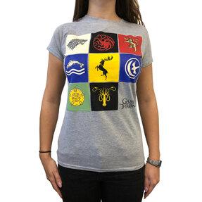 Šedé dámske tričko Game of Thrones - Houses