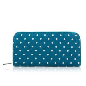 Veľká modrá bodkovaná peňaženka