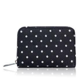 Čierna bodkovaná peňaženka