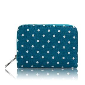 Modrá bodkovaná peňaženka