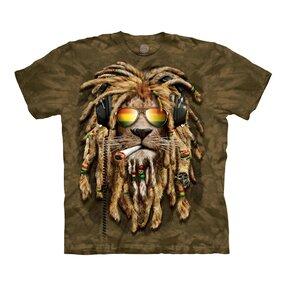 T-shirt Lion with Dreadlocks