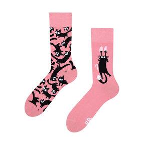 Veselé ponožky Růžové kočky