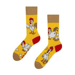 Veselé ponožky Sliepka alebo vajce