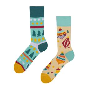 Veselé ponožky Vianočné gule