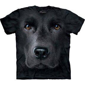 Fekete labrador arc póló