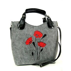 Excent Handbag - Red Poppies