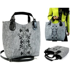 Excent Handbag - Black Ornament Laura