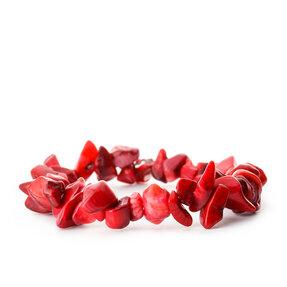 Armband Rote Koralle feinkörnig - Stein der Leidenschaft