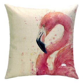 Obojstranná obliečka na vankúš Love me Flamingo