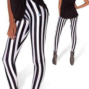 Ladies' Elastic Striped Leggings