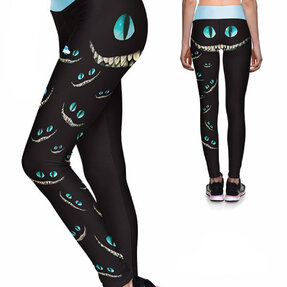 Ladies' Sport Elastic Leggings Cat Smile