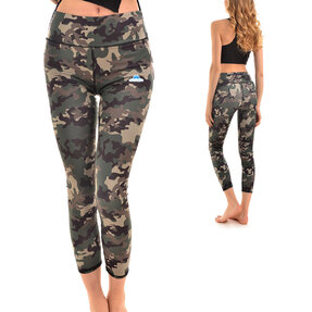 Ladies' Sport Elastic Leggings Camo Design