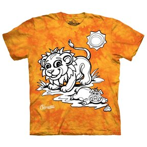 Kids Colorwear T-shirt Lion - yellow and orange