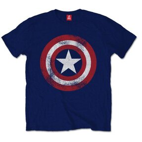 Tricou Marvel Comics Captain America Distressed Shield