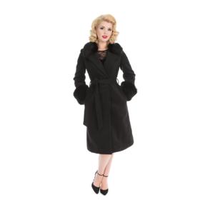 Damen Vintage Mantel Schwarz Marylin