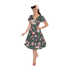 Retro pin up šaty Milovníčka kvetov