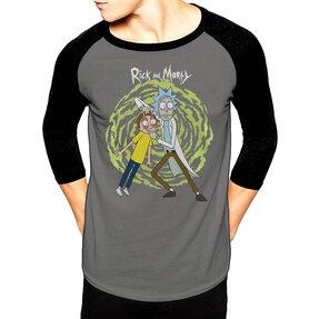 Tričko s trojštvrťovým rukávom Rick and Morty Spiral