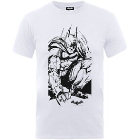 Kinder T-Shirt Weiß Batman Arkham Sketch