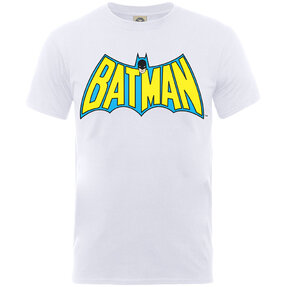 Kinder T-Shirt Weiß Batman Logo