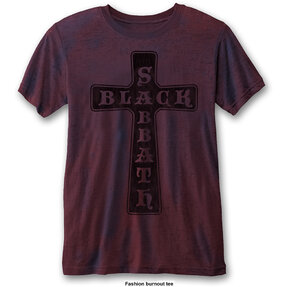 Rotes T-Shirt Black Sabbath Vintage Cross
