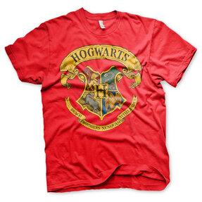 Červené tričko Harry Potter Rokfort