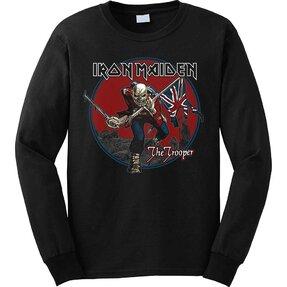 Čierna mikina bez kapucne Iron Maiden Trooper Red Sky
