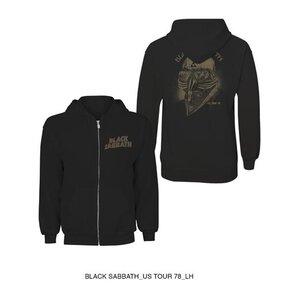 Čierna mikina na zips Black Sabbath Tour 1978