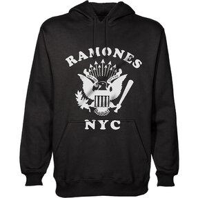 Černá mikina s kapucí Ramones Retro Eagle New York City