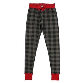 Dámske šedé kárované pyžamové legíny
