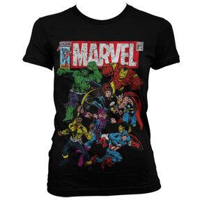 Dámske tričko Marvel Comics Captain America Marvel team