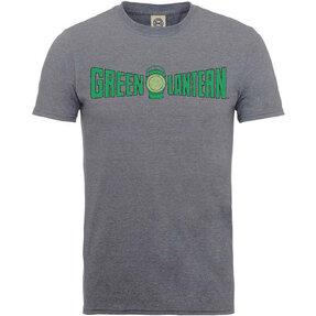 Bledošedé Tričko DC Comics Originals Green Lantern Crackle Logo