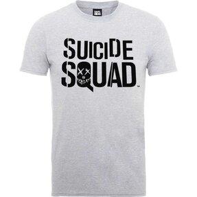 Světle šedé tričko DC Comics Suicide Squad Logo